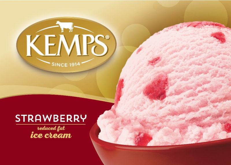 (56 oz.) Strawberry Reduced Fat Ice Cream