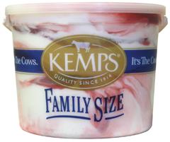 (132 oz. Pail) Strawberry Swirl Reduced Fat Ice Cream