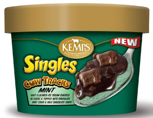Singles Cow Tracks Caramel Ice Cream (6 oz.)