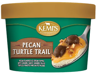 Singles Pecan Turtle Trail Ice Cream (6 oz.)