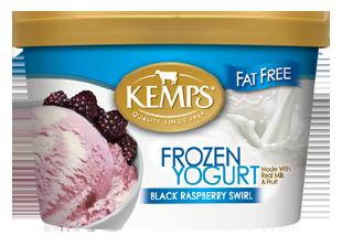 Fat Free Black Raspberry Swirl Frozen Yogurt (1.5qt.)