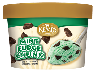 Singles Mint Chocolate Chunk Ice Cream (6 oz.)