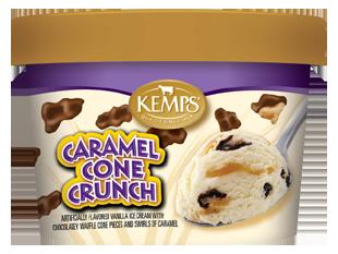Singles Caramel Cone Crunch Ice Cream (6 oz.)