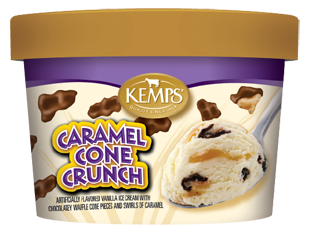 Singles Caramel Cone Crunch Ice Cream (6 oz.)