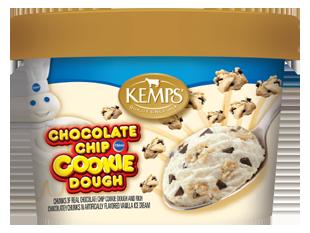 Singles Pillsbury Chocolate Chip Cookie Dough Ice Cream (6 oz.)