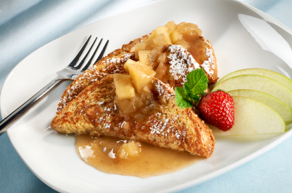 Apple Pecan Stuffed French Toast