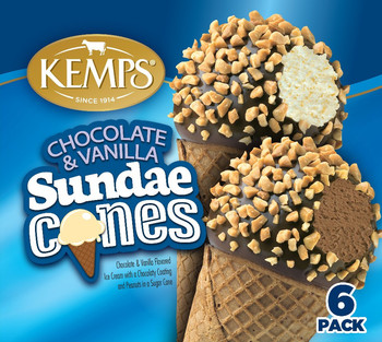 (6 Pack) Kemps Old Fashioned Sundae Cone Combo