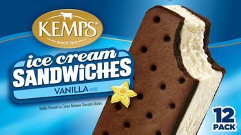 (12 Pack) Kemps Ice Cream Sandwiches Vanilla