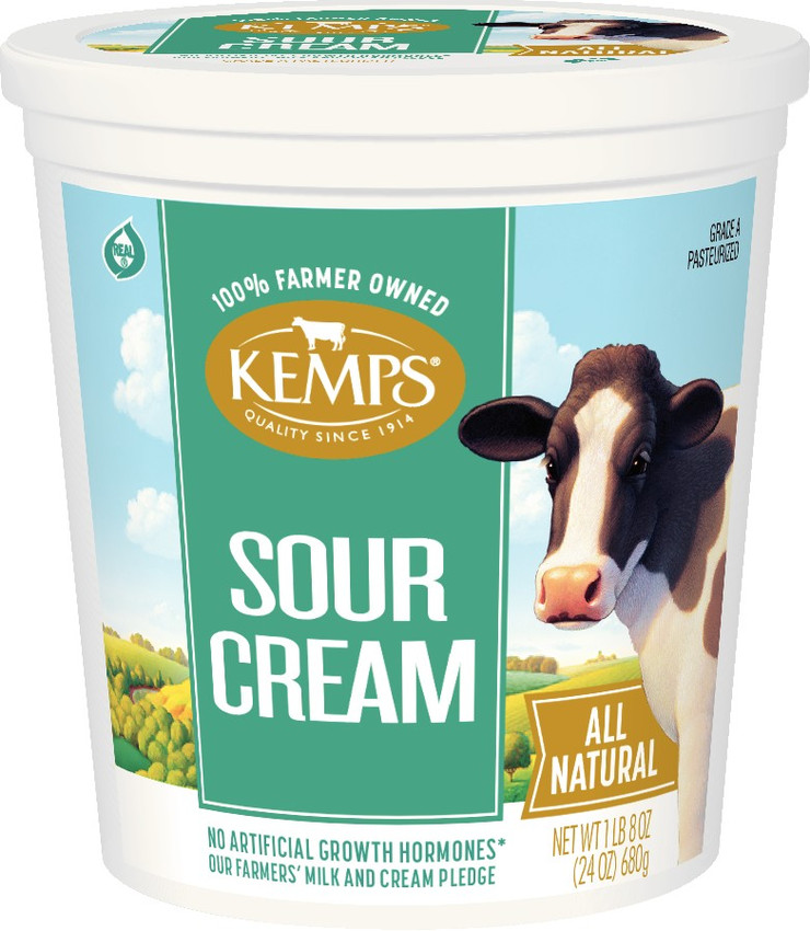 Cultured Sour Cream 24 Oz Kemps