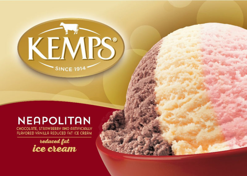 (56 oz.) Neapolitan Reduced Fat Ice Cream
