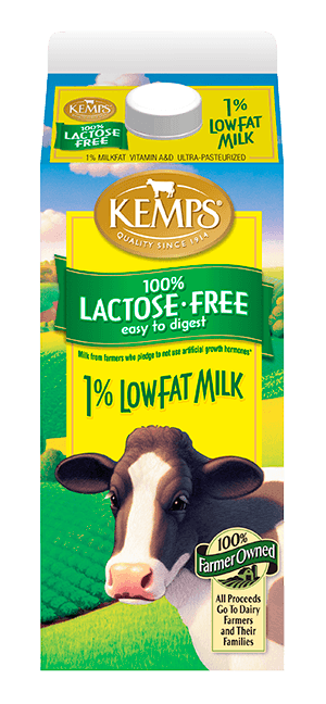 Lactose Free 1% Low Fat Milk (Paper Half Gallon)