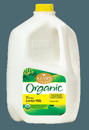 Organic 1% Lowfat Milk (Plastic Gallon)