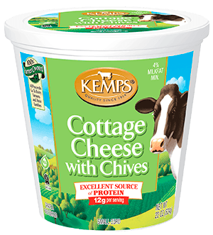 4 cottage cheese with chives 22 oz kemps rh kemps com cottage cheese with chives calories cottage cheese with chives calories