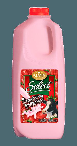Strawberry 1% Low Fat Select Milk (Plastic Half Gallon)