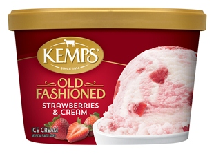 (1.5 qt.) Old Fashioned Strawberries 'n Cream Ice Cream