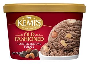 (1.5 qt.) Old Fashioned Toasted Almond Fudge Ice Cream