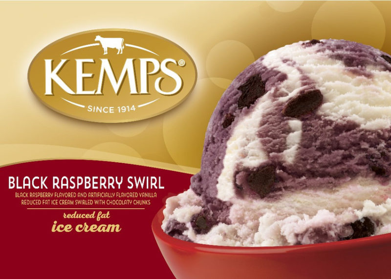 (56 oz.) Black Raspberry Swirl Reduced Fat Ice Cream