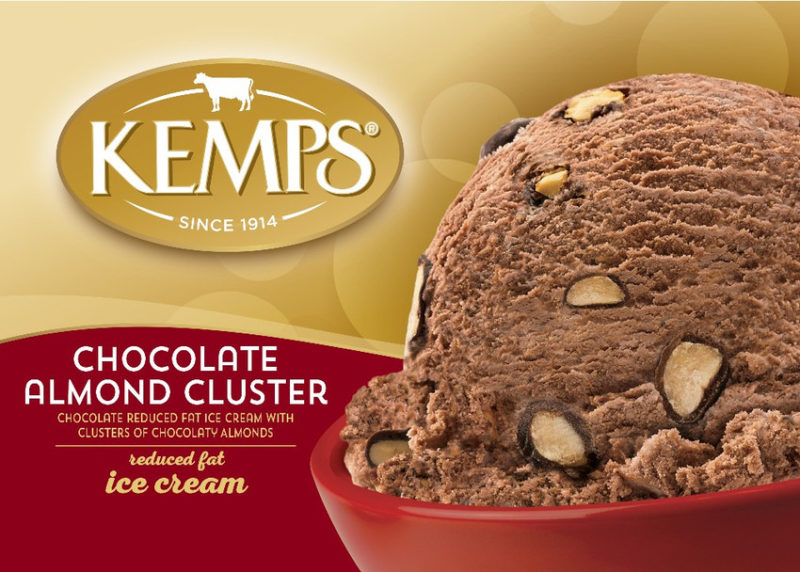 (56 oz.) Chocolate Almond Cluster Reduced Fat Ice Cream