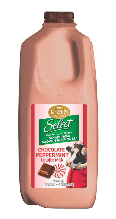 Chocolate Peppermint 1% Lowfat Milk (Plastic Half Gallon)