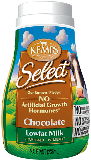 Chocolate 1% Lowfat Select Milk (Plastic Half Pint)