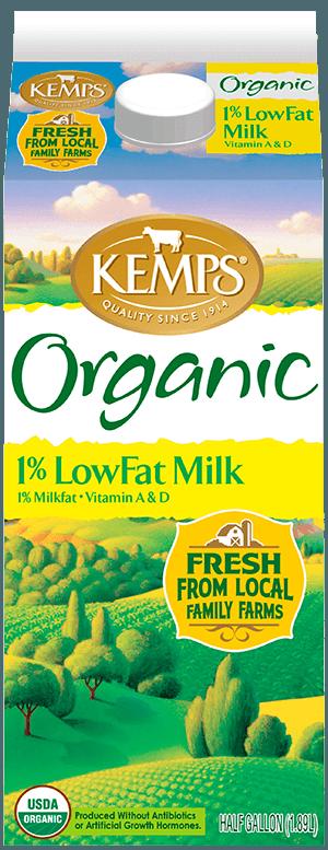 1% Lowfat Organic Milk (Paper Half Gallon)