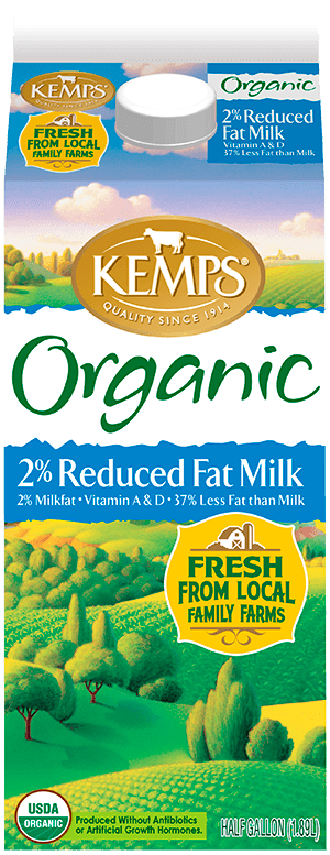 2% Low Fat Organic Milk (Paper Half Gallon)