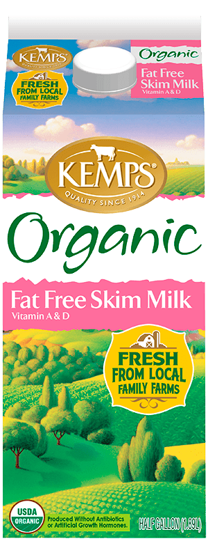 Fat Free Skim Organic Milk (Paper Half Gallon)