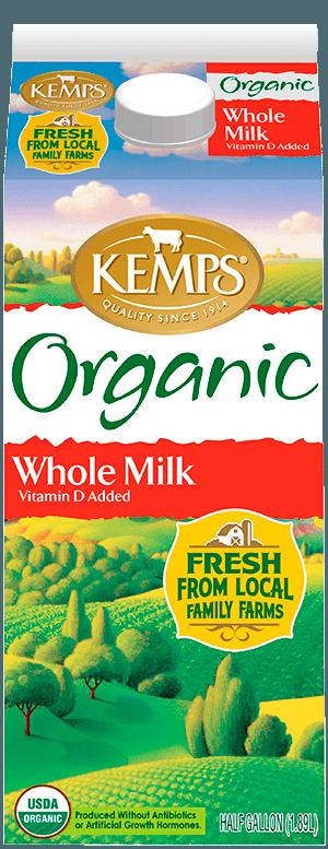Whole Organic Milk (Paper Half Gallon)