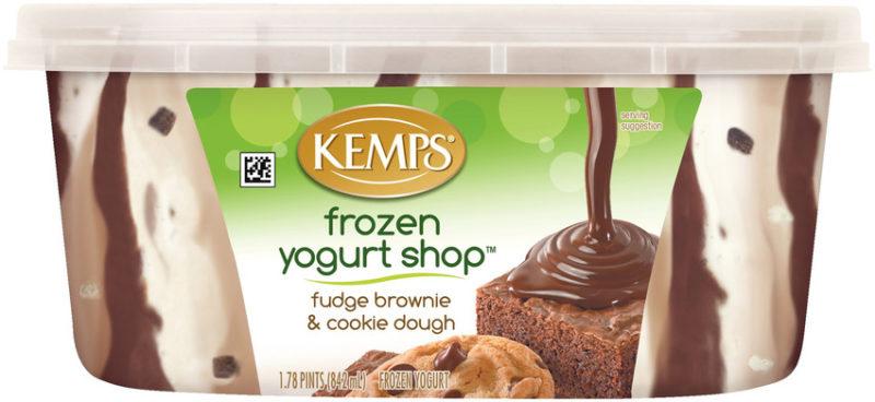 Frozen Yogurt Shop Fudge Brownie and Cookie Dough