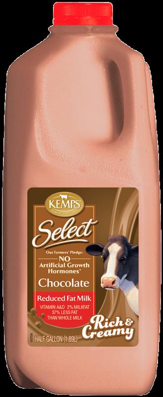 Chocolate Reduced Fat Select Milk (Plastic Half Gallon)
