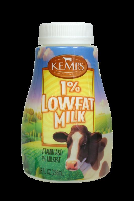 1% Low Fat Milk (Plastic Half Pint)