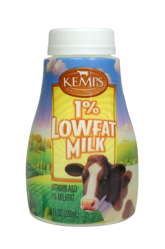 1% Lowfat Milk (Plastic Half Pint)