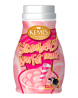 Strawberry 1% Low Fat Milk (Plastic Half Pint)
