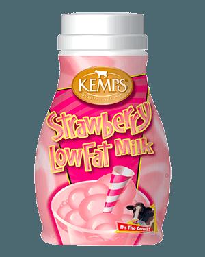 Strawberry 1% Low Fat Milk (Plastic Half Pint)