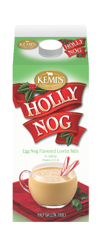 Holly Nog 1% Flavored Milk (Half Gallon)