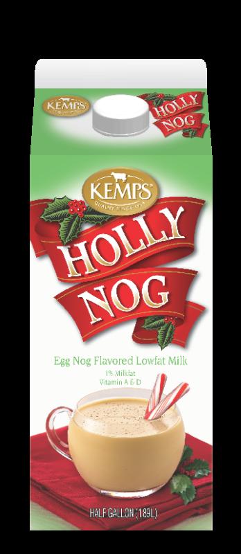 Holly Nog 1% Flavored Milk (Half Gallon)