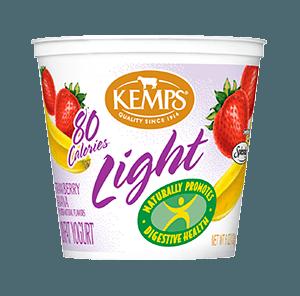 Light Yogurt (80 Calorie): Strawberry Banana (6 oz.)