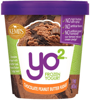 Yo2 Frozen Yogurt Chocolate Peanut Butter Fudge (pint) - Kemps