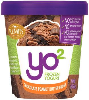 Yo2 Frozen Yogurt Chocolate Peanut Butter Fudge  (pint)