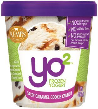 Yo2 Frozen Yogurt Salty Caramel Cookie Crunch
