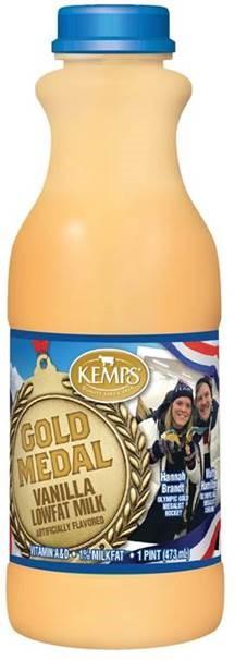 Gold Medal Vanilla Lowfat Milk (plastic pint)