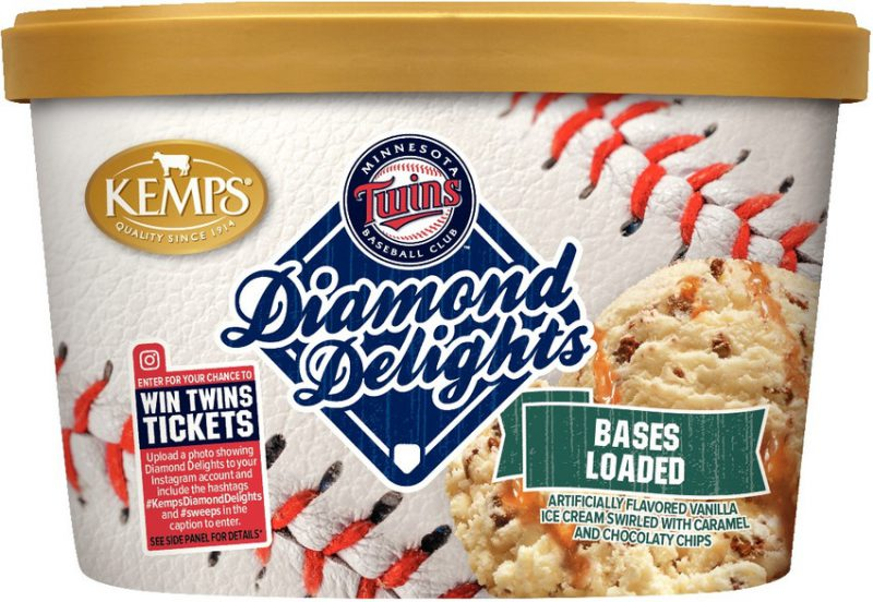 (1.5 qt.) MN Twins Diamond Delights Bases Loaded Ice Cream