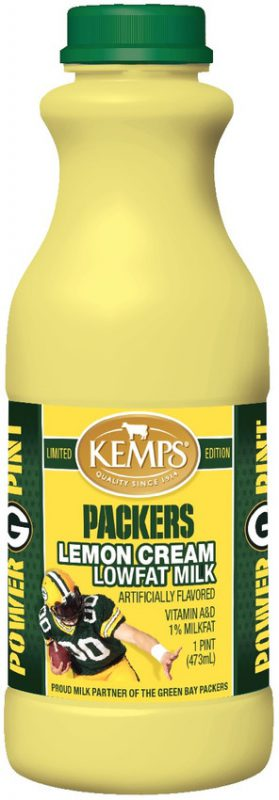 Green Bay Packers Lowfat Lemon Cream Milk (Pint)