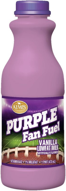 Purple Fan Fuel Vanilla Lowfat Milk (Plastic Pint)