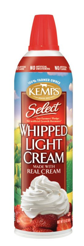 Kemps Select Whipped Light Cream Aerosol