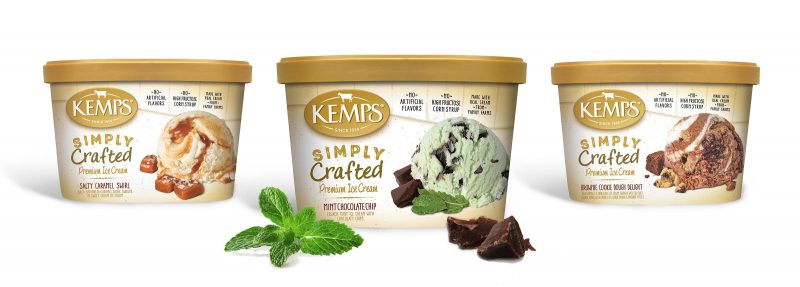 Kemps Simply Crafted Mint Chocolate Chip Ice Cream